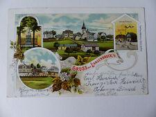 AK Litho LANGENBRUCK in Böhmen 1901 SCHULE, Post, Kriegerdenkmal  gelaufen RAR