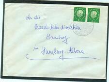 Brief mit Bund 303 waagerechtes Paar auf Bedarfsbrief