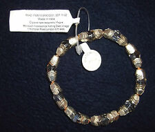 Monsoon Accessorize Bangle with Gilt Metal Pressings & Clear Crystal Beads -BNWT