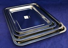 New Set of 4 Stainless Steel Square Baking Trays