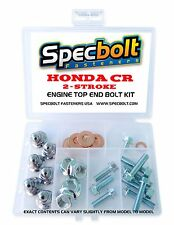 HONDA CR ENGINE CHROME CAP HEAD NUT BOLT KIT TOP END CR80 CR85 CR125 CR250 CR500