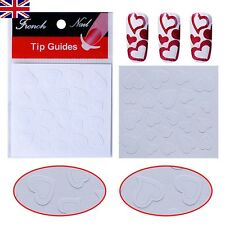 2x Valentine Heart Shape Nail French Sticker Art Tips Guides Stencil~ UK Seller~