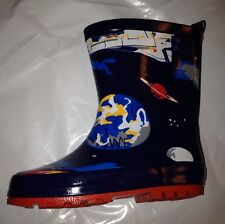 Boys Wellington Boots New With Tag, All Over Spaceman, Size 8C, by John Lewis