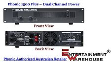 Phonic MAX 1500  - 1500 Watt Power Amplifier