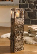 deko kerzenst nder teelichthalter aus holz ebay. Black Bedroom Furniture Sets. Home Design Ideas
