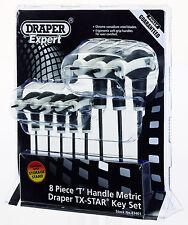 Draper 83401 T9-T40 8pc soft grip T handle torx allen key rack set TX star