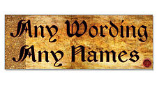 OLD ENGLISH ANY WORDING Personalised Sign Plaque home door wall external garden