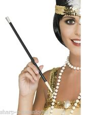 Ladies Black 1920s Flapper Charleston Fancy Dress Cigarette Holder Costume Stick