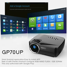 Wireless Bluetooth Full HD 1080P Android 4.4 WiFi Home Theater Projector Cinema