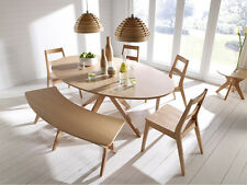 Contemporary Dining Table Modern Large Furniture Wooden Oak Kitchen Dinner Room