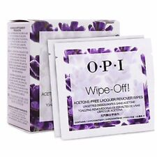 OPI Wipe Off! ACETONE FREE Lacquer Remover Wipes x10 **Great for Travel**