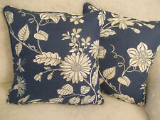 SILVERLEY BY JANE CHURCHILL COTTON/LINEN FABRIC 1 PAIR OF CUSHION COVERS