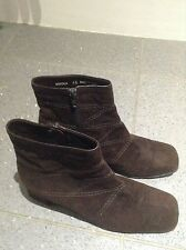 Bally Switzerland suede leather zip ankle heel boots sz5 1/2 paid £399 w 3 times