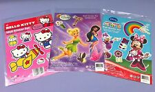 3 x REMOVABLE WALL STICKERS CHILDRENS CHARACTERS BEDROOM TOY BOX CABINET CRAFT