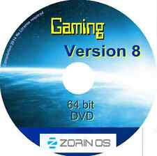 Zorin OS 8 Gaming 64 bit live DVD - no license required Linux O/S Windows alt