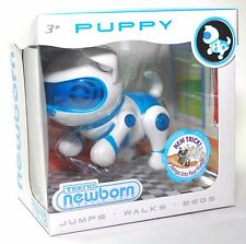 Tekno Newborns Electronic Robotic Pet Interactive Puppy Dog Blue ~ New 2016