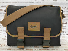 LACOSTE Messenger Bag NH0493 Black Expandable Satchel Shoulder Bags BNWT RP£100
