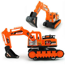 Kids Excavator Track Digger Construction Diecast Model Vehicle Tractor Toy  BO