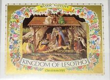 LESOTHO 1981 Block 10 S/S 350 Christmas Weihnachten Religion Paintings MNH