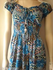 LADIES WOMENS GYPSY ROMANTIC SUMMER PARTY BEACH DAY CASUAL DRESS SIZE S - M