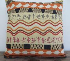 Ethnic Tribal Indigenous Paintings Linen Look Cushion Cover 45cm #5