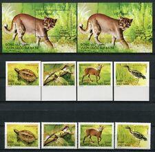 VIETNAM 2011 Tiere Animals 3574-77 + Bl.157 Gezähnt und Ungezähnt ** MNH