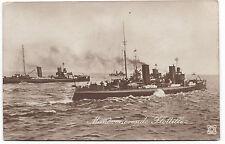 Original Foto AK Manöverierende Flottille Kaiserliche Marine Schiffe MSP Stempel