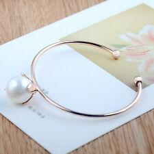 2016 Mode Frauen Schmuck Metall Blume Perle Armreif Armreif Armband Für Damen