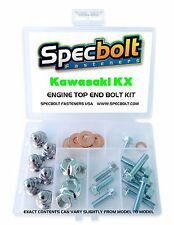 KAWASAKI ENGINE BOLT CHROME NUT KIT TOP END KX65 KX80 KX85 KX125 KX250 KX500