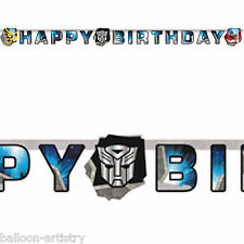 1.65m Transformers Optimus Happy Birthday Party Letter Banner Decoration