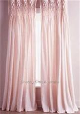 Shabby French Country Curtains Drapes 2 Pink Vintage Smocked Panels Chic New