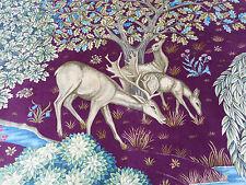 William Morris Curtain Fabric 'The Brook' 1.2 METRES 120cm Tapestry Red - Velvet