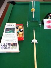 SNOOKER, POOL & BILLIARDS TRAINING AID FOR A TRUE AND STRAIGHTER CUE ACTION