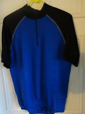 Raleigh Avenir Cycling Jersey  Short Sleeve Blue / Black Large RRP 19.99
