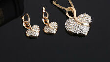 Crystal Love Heart Style Necklace and Earring Jewellery Christmas gift for women