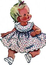 SEWING PATTERN 1950s Baby Toddler Dress Pinafore Top with Rose Size 1/2 - 1 COPY