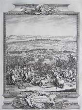 DU BOSC Original Kupferstich Schlacht v. Turin Torino Italien - 1736