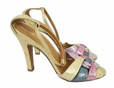 MISS SIXTY Sandals Size 5 Gold Purple Pink Sparkle Party Evening Prom
