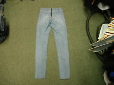 "H & M Skinny Jeans Waist 28"" Leg 32"" Faded Medium Blue Ladies Jeans"