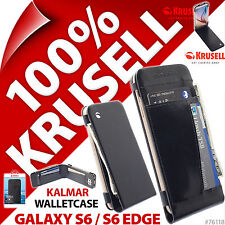 Krusell Kalmar Synthetic Leather Flip Wallet Case for Samsung Galaxy S6/ S6 Edge