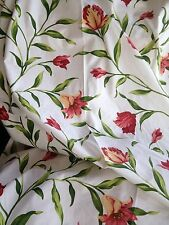 """Ready Made Lined Curtains 100"""" Wide X 90"""" Drop French Red Lily Quality Fabric"""