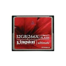 Kingston 32GB Ultimate Compact Flash CF Memory Card For Digital Camera Card 266x