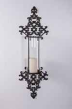 """Natasia Estate"" Ornate Wall Mounted Hurricane Lamp"