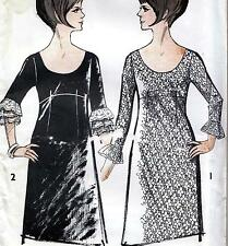 "RARE Vintage 60s Mod DRESS Sewing Pattern UNUSED Bust 38"" Sz 14 RETRO Evening"