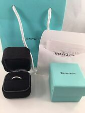 Tiffany & Co Platinum 2mm Diamond Wedding Band Ring. RRP 3850. WITH RECEIPT