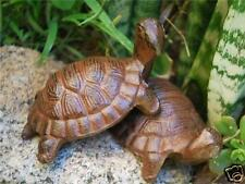Pair of Rustic Cast Iron Tortoise Garden Ornaments