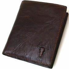 Mens Genuine Leather handmade Wallet Coin Pocket Bifold New Style ,gift pouch