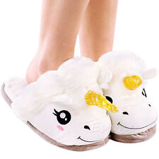 Adult Plush Winter Soft Cute Warm Men Women Unicorn Slippers Home Indoor Shoes
