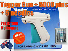 TAGGER/TAG Gun + 5,000 pins/barbs + 5 Spare metal needles POSTS FROM MELBOURNE
