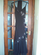 BNWT KATHRYN C Brown Beaded & Embroidered Tulle Long Evening Dress Size 12